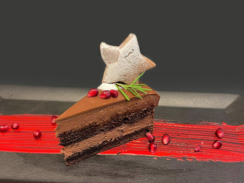 Шоколадова торта с нар